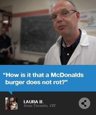 McDonald's Burger Does not rot